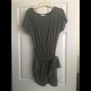 Hunter green mini dress